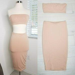 Naked Wardrobe Tube Top Skirt Set.